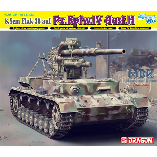 88mm flak 36 auf panzer iv ausf h. Black Bedroom Furniture Sets. Home Design Ideas