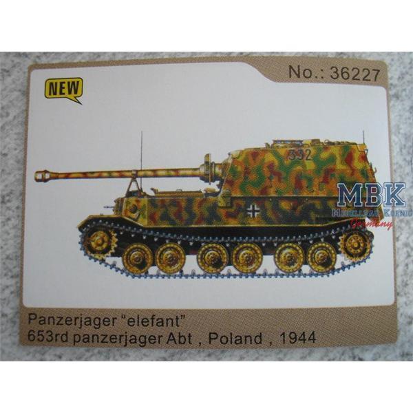 Elefant 653. Panzerjäger Abt. , Polen 1944