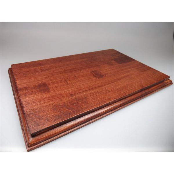 Mahagoni holz unbehandelt  Holzsockel, 30 x 20cm, Mahagoni