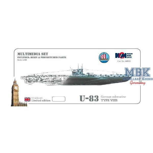 U 83 U-boot type VIIB German submarine