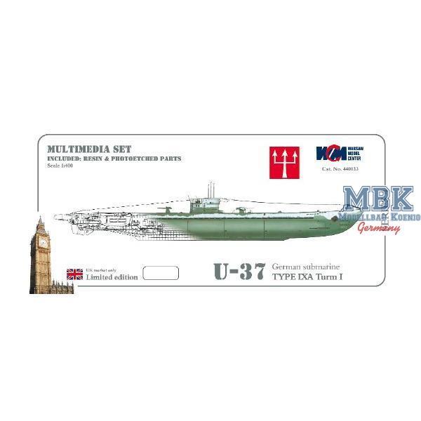U 37 U-boot type IXA German submarine