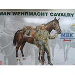German Wehrmacht Cavalry Soldier with Horse