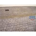 Large Cobblestone Road Section with Sidewalk