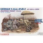 German 2,8 cm sPzB41 PAK mit Crew