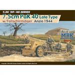 7.5 cm Pak 40 w/Fallschirmjäger Gun Crew