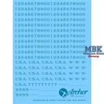 U.S. Fahrzeugregistrierungsnummern, früh - blau