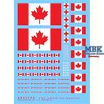 Kanadische Flaggen und Sanitätsabzeichen