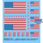 U.S. 48 Sterne Flagge für Fahrzeuge