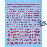 Sortierte Nummern schabloniert und unschablonier