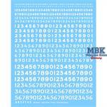 Sortierte Nummern schabloniert und unschabloniert