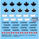 Kanadische Nummernschilder