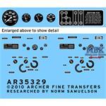 L.R.D.G. Command Car Instrumente und Typschilder