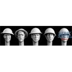 5 Heads British Steel helmets