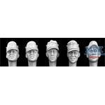 5 Heads German WW2 Mountain Caps