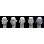 5 different female head - No Hair