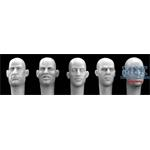 5 different Heads Europen Bald Heads