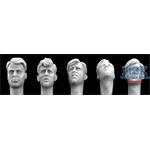 5 different Heads, with 40´s Haircut