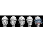5 heads, Italian WW2 AFV helmets