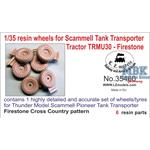 Resin wheels Firestone f. Scammell Pioneer Tractor