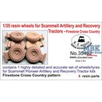 Resin wheels f. Scammell Pioneer Art. & Recovery