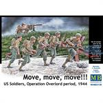 Move, move, move!!! US Soldiers Operation Overlord