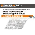 German Tank Stenciling Templates Set #2
