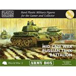 MID/LATE WAR RUSSIAN TANK BATTALION/ 15mm