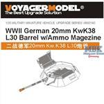 2cm Flak38 L/30 Barrel w/ Ammo Magazine
