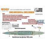 CRUISERS SMS DRESDEN + SMS EMDEN(REVELL 05500)
