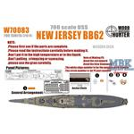 WWII USS New Jersey BB62 (for Tamiya 31614 )