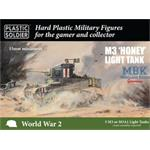 Allied Stuart I Honey and M3 tanks 15mm