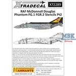 Phantom RAF stencil data Part 2 for grey aircraft