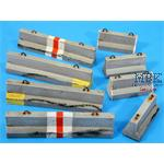 Jersey Road Barrier Set-small (2 types, Qty-8 tota
