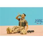 Modern UK Infantryman at rest #3 Drinking water *D
