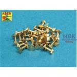 Turned Hexagonal bolts 1,75x2,20mm  x 25 pcs.