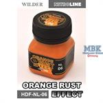 Orange Rust Enamelwash