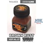 Brown Rust Speckling Effect Enamelwash