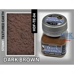 Dark Brown Earth, Stony Texturing
