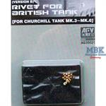 Rivets for british Tank Churchill Mk.3-6 (B Type)