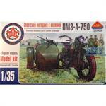 sov. WWII PZM-750 motorcycle w/ sidecar