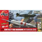 Dogfight Double P-40B Warhawk and Mitsubishi Zero