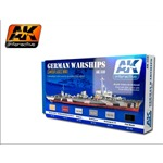 German Warships Acrylic Set