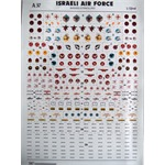Israeli Air Force - 20 sqd badges and Heb. stencil