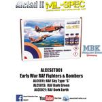 Early War RAF Fighter & Bombers 3x30 ml