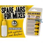Spare jars for mixes - leere Farbflaschen (4 St)