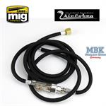 6 foot braided air hose w/ moisture trap