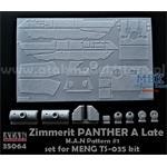 Zimmerit für Panther A Late MAN Pattern #1  (Meng)