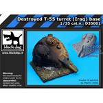 Destroyed T55 turret Iraq base