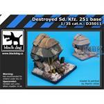 Destroyed Sd.Kfz.251 base