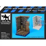 Corner with wooden gate (50x50 mm)